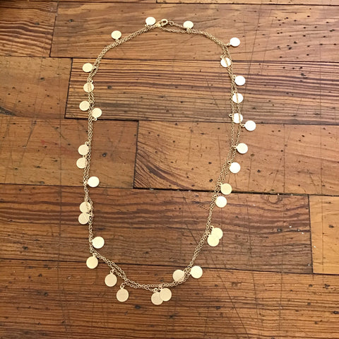 Mini Disc Necklace - Gold