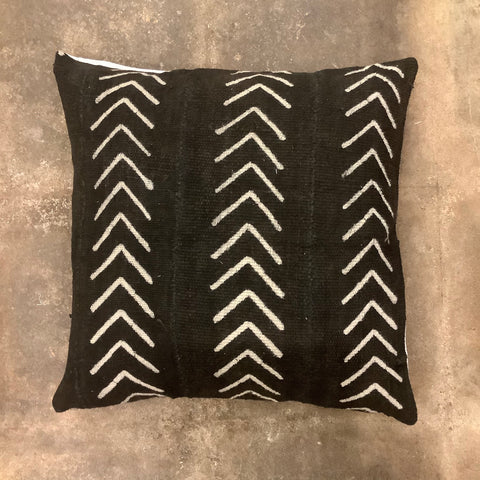 Azibo African Mud Cloth Pillow - Black