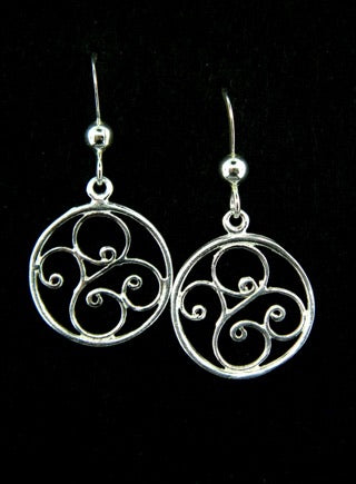 Silver Open Swirl Earrings