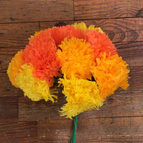 Mexican Paper Flower Bouquet - Marigolds