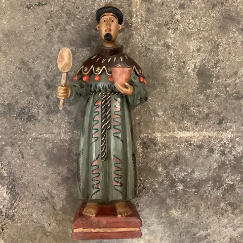 Large San Pasqual from Guatemala Patron Saint of the Kitchen