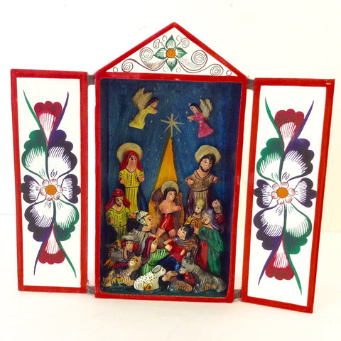 Vertical Retablo Nativity by Tobias Caceres