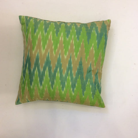 SALE - Guatemalan Ikat Pillow - Green