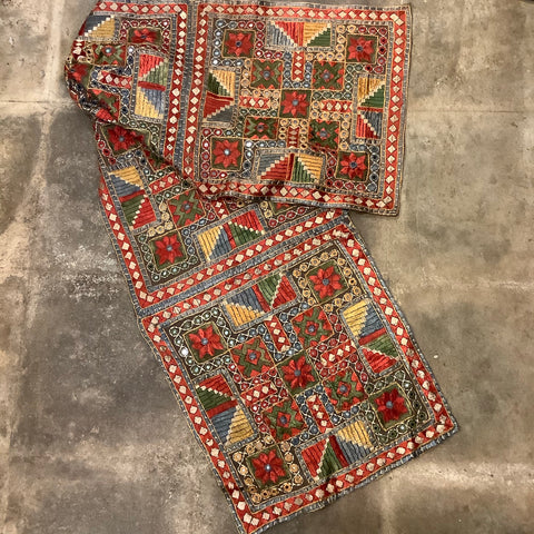Indian Mirror Embroidery - 4 Panel