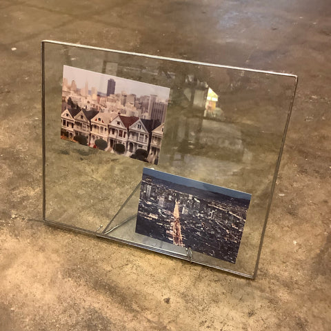 "9"" x 11"" Glass Frame (Clear in Silver)"
