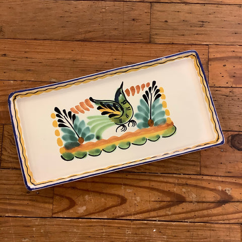 Gorky Rectangular Mini Tray Plate - Bird