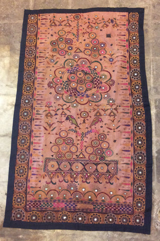 Vintage Rabari Embroidered Textile