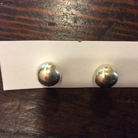 Silver Ball Stud Earrings