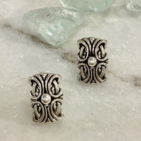 SALE - Art Nouveau Silver Earrings