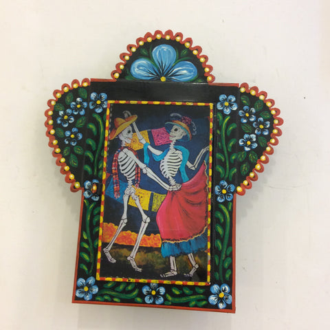 Large Nicho Box from Mexico - Skeleton Couple