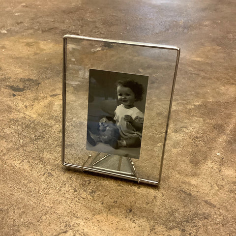 "4"" x 5"" Glass Frame (Clear in Silver)"