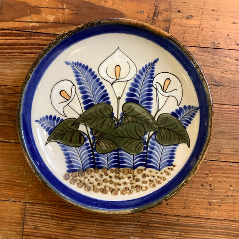 Stoneware Plate from Mexico - Callalily