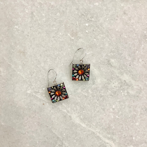 Square Daisy Earrings