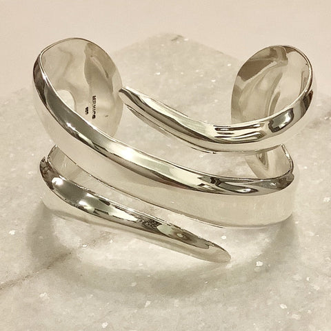 SALE - Pointed Silver Cuff Bracelet