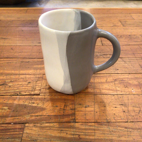 Urban mug in grey/ gloss white