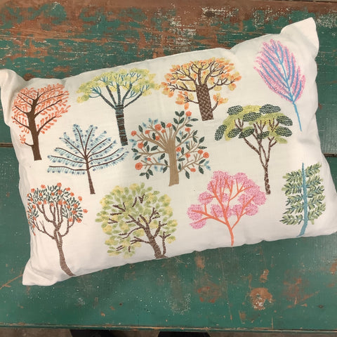 Mystic Forest Embroidered and Beaded Pillow