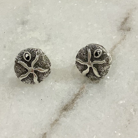 SALE - Sand Dollar Silver Earrings