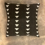 Behati African Mud Cloth Pillow - Black