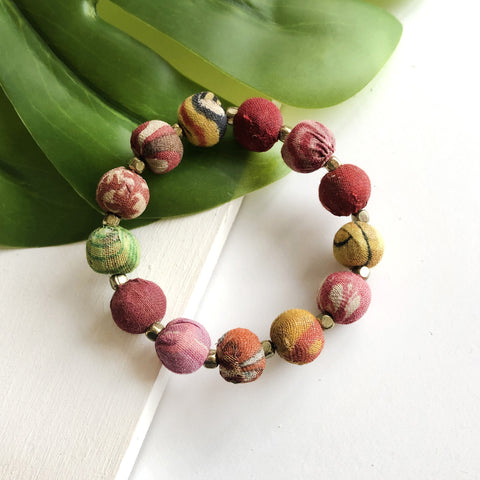 Large Bauble Kantha Bracelet