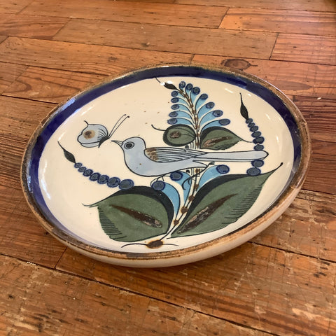 D'casa Stoneware Salad Plate - Colorful Bird