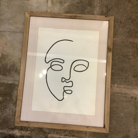 Face Print Under Glass - 2