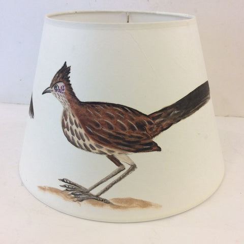 Roadrunner Bird Painted Lampshade (Medium)