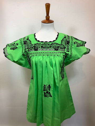 San Antonino Lacey Blouse Top from Mexico - Small/Medium
