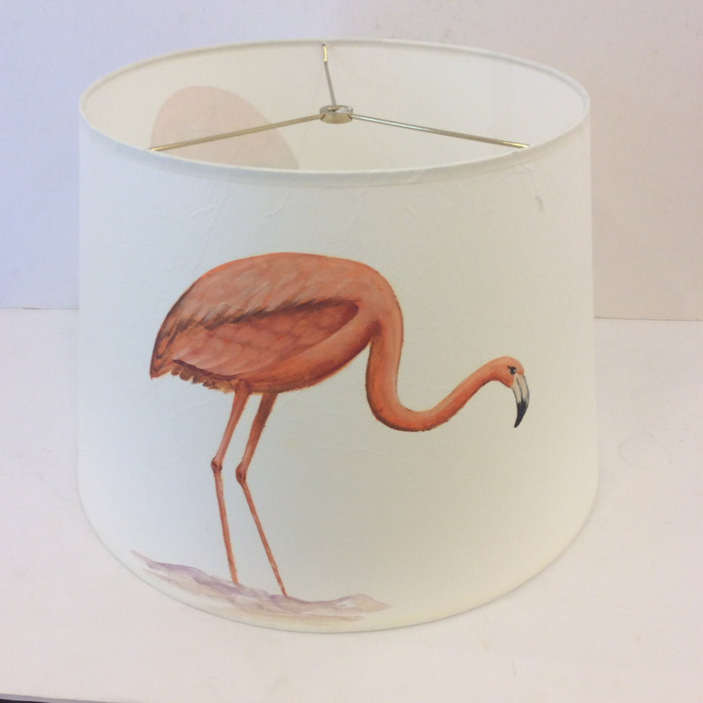 SALE - Flamingo Bird Painted Lampshade (Large)