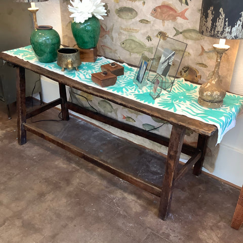 SALE - Wooden Guatemalan Console Table - Thin