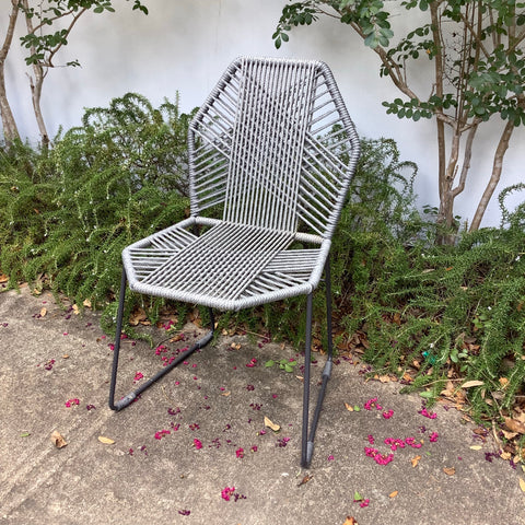 Cross-Rope Metal Chair