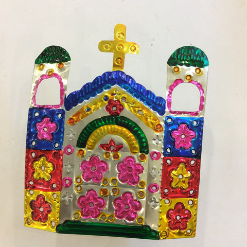 Tin Church Votive from Mexico