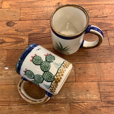 Large Stoneware Mug Nopal from Mexico