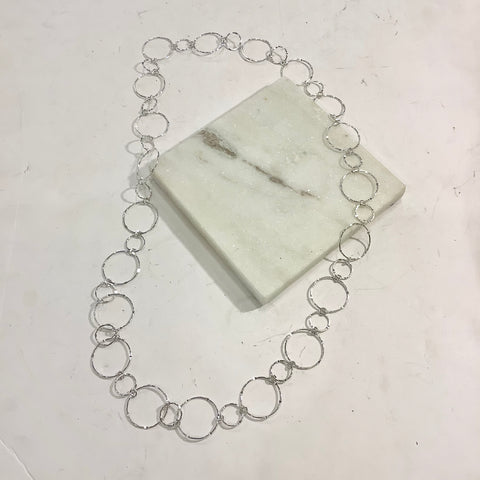 Circle Chain Silver Necklace