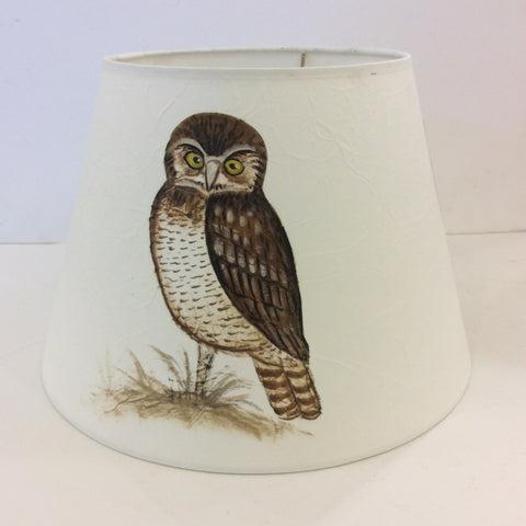 Owl Bird Painted Lampshade (Medium)