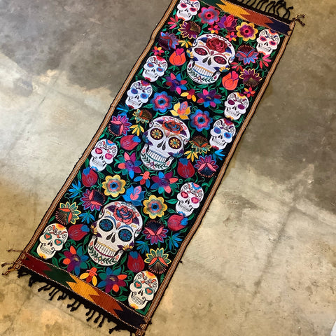 Day of the Dead Short Runner from Guatemala - Black
