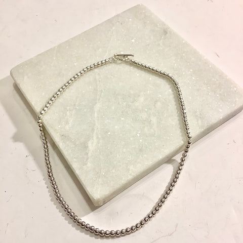 Beaded Silver Necklace - Small