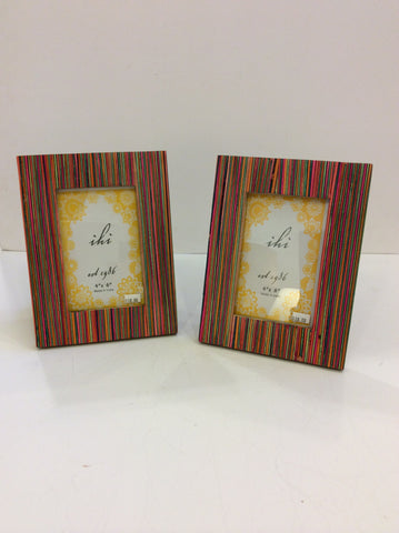 Vibrant Stripes Wood Frame