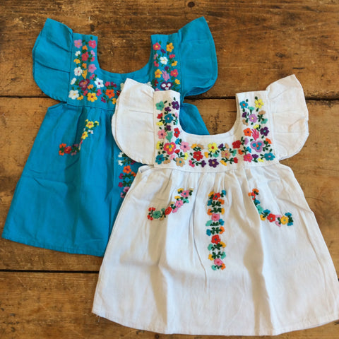 Mexican Girl's Dress with Flowers - Size 1