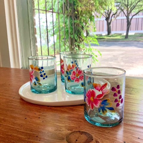 Mexican Juice Glass - Flowers