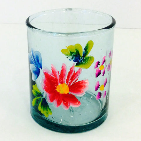 Mexican Wine / Juice Glass with Hand-painted Decoration