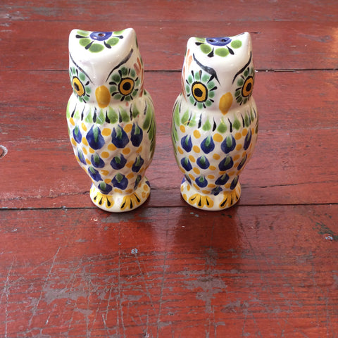 Gorky Salt and Pepper Shaker Set - Owls
