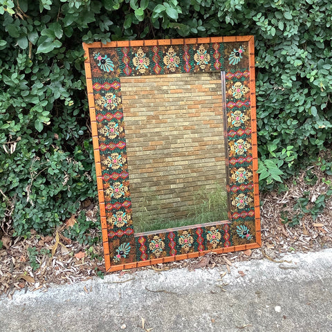 David Marsh Painted Paco Mirror