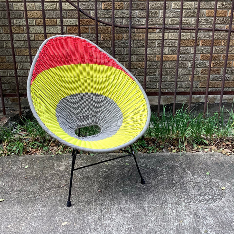 Elastic Colorful Acapulco Avacado Chair -  Yellow, Orange, Gray