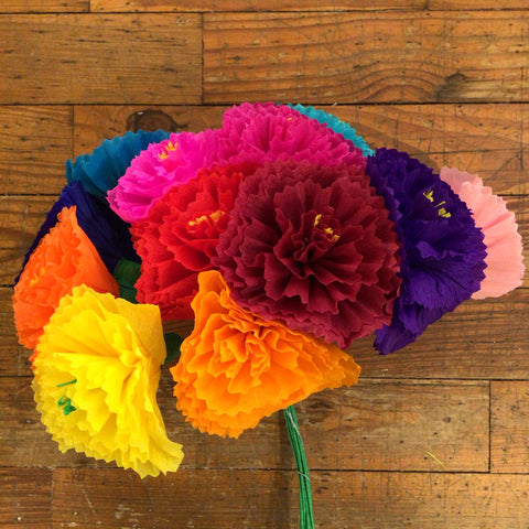 Mexican Paper Flower Bouquet - Carnations