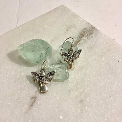 Singing Angel Silver Earrings