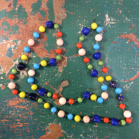 True Colors Glass Bead Necklace