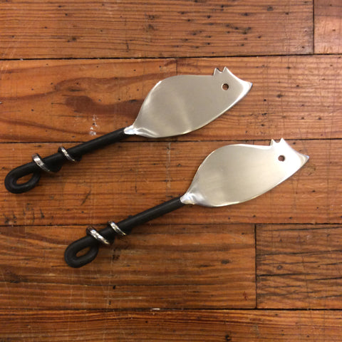 Black Twist Mouse Cheese Spreader / Knife