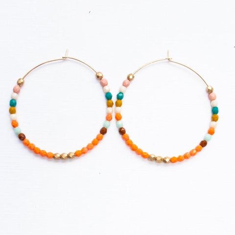 Hoop Earrings - Orange