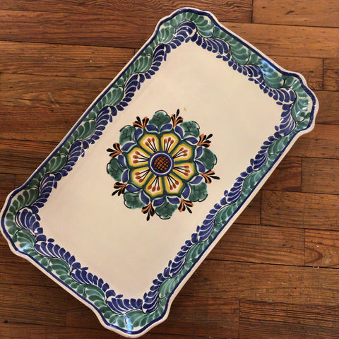 Gorky Rectangular Platter - Flower 2