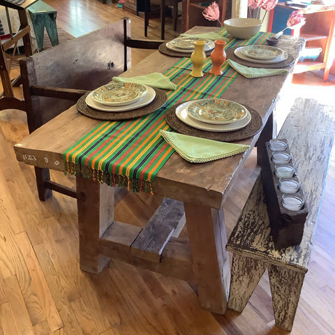 Sale - Wooden Guatemalan Dining Table - Heavy